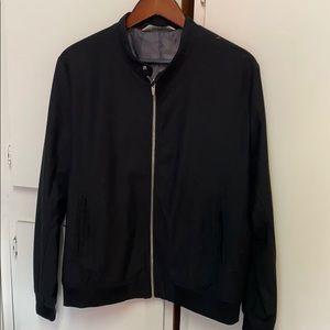 Men's Zara black bomber jacket